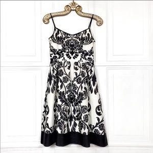 Ann Taylor Sleeveless Silk Damask Cocktail Dress 8